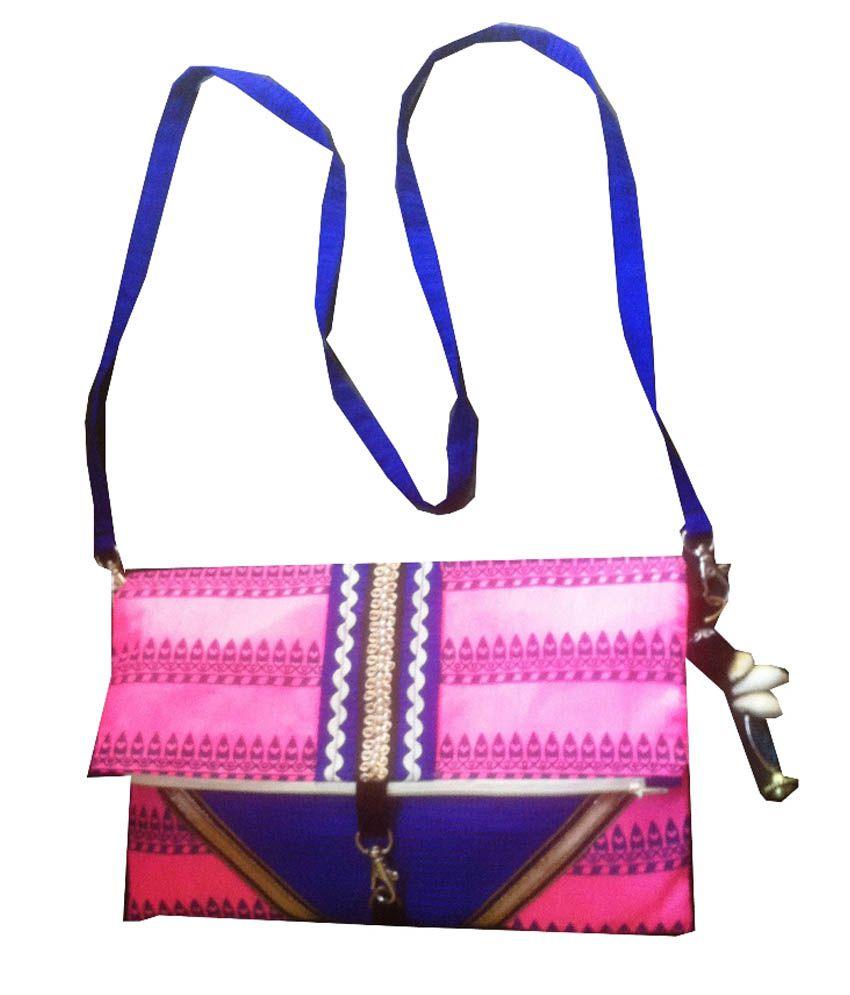 Arnelsmommy Pink Handicraft Sling Bag (Pack Of 3)