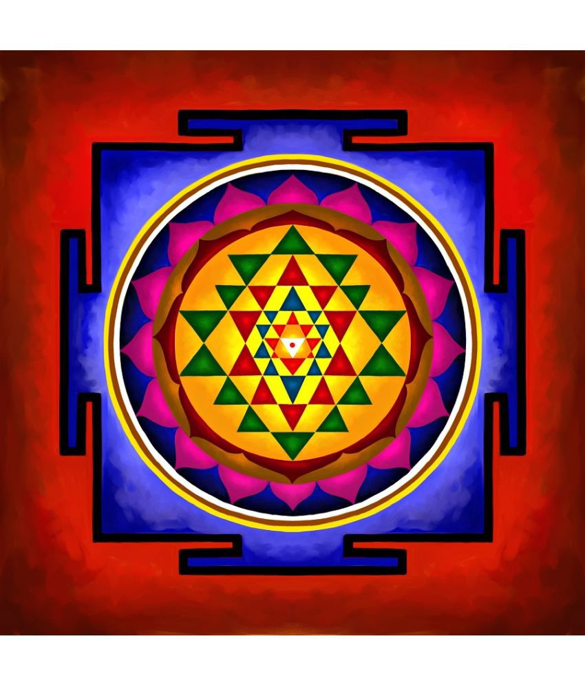 Sri Yantra Canvas Painting