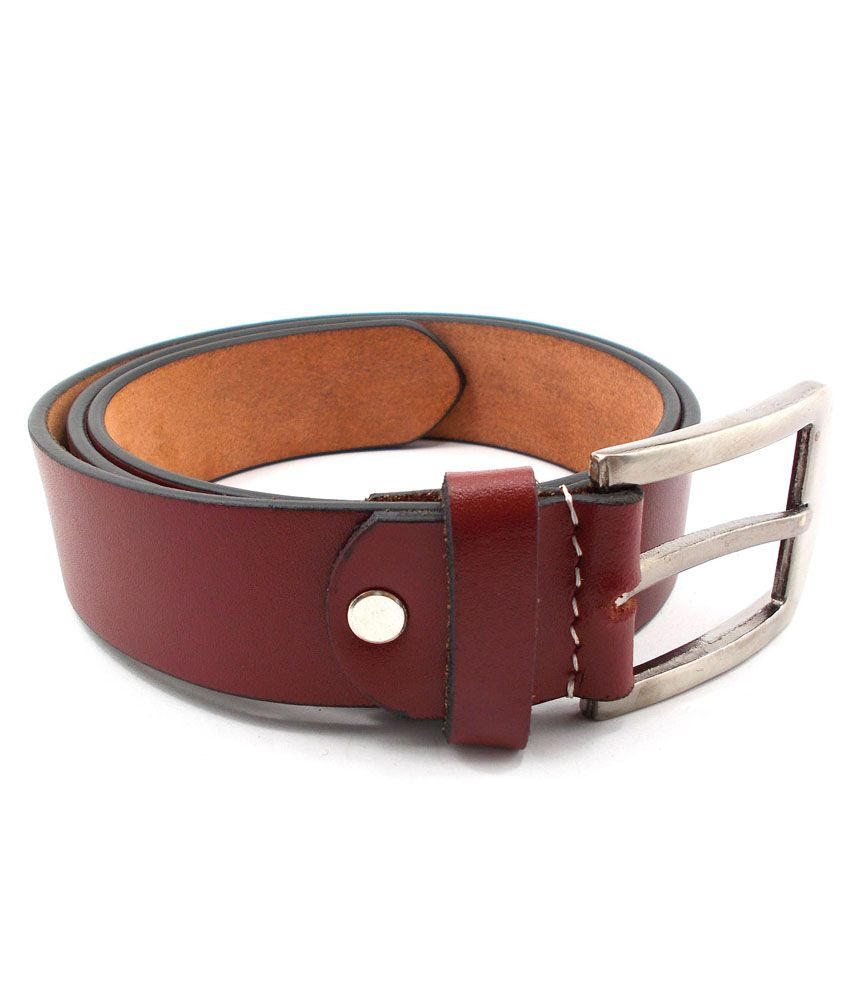 Inle Street Kanpur Red Leather Formal Men Belt