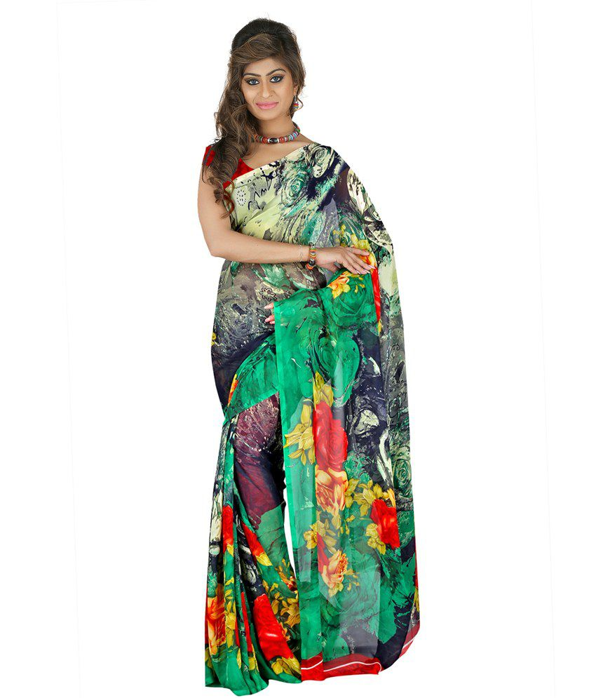 Lookslady Multicoloured Georgette Saree