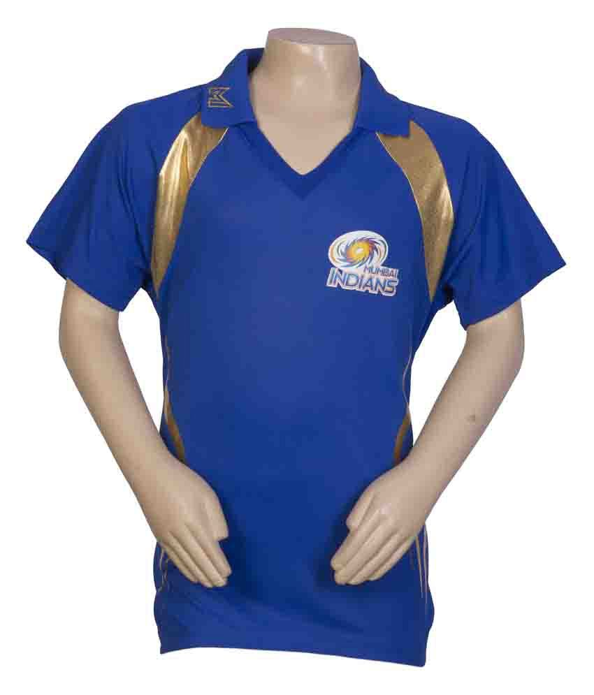 44b7550f9 Mumbai Indians Official Kid s Blue Johny Collar T-Shirt  Buy Online at Best  Price on Snapdeal