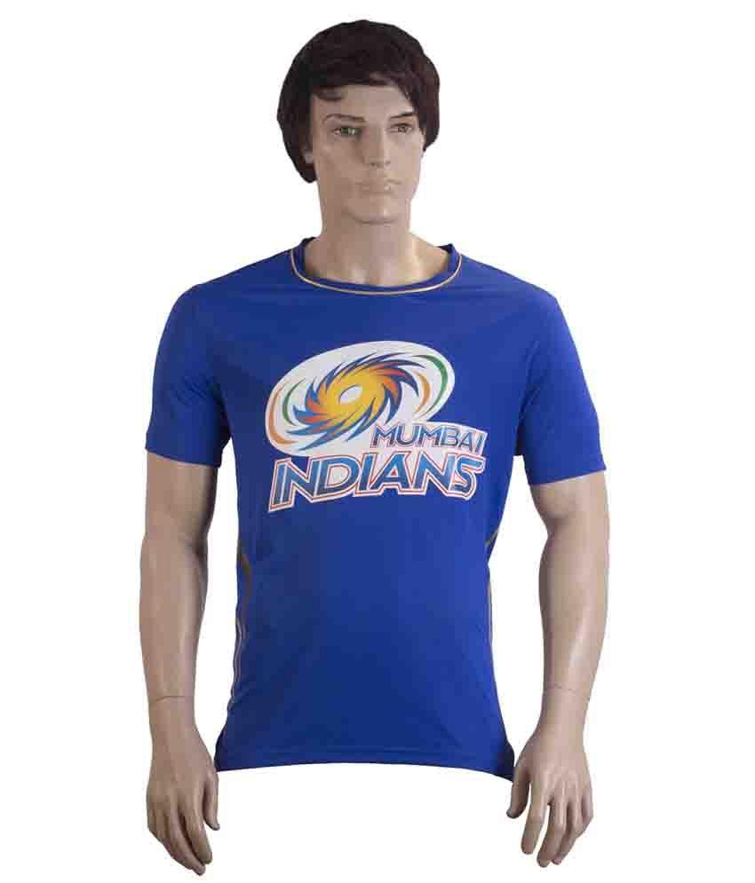 Mumbai Indians Official Men's Blue Round Neck T-Shirt