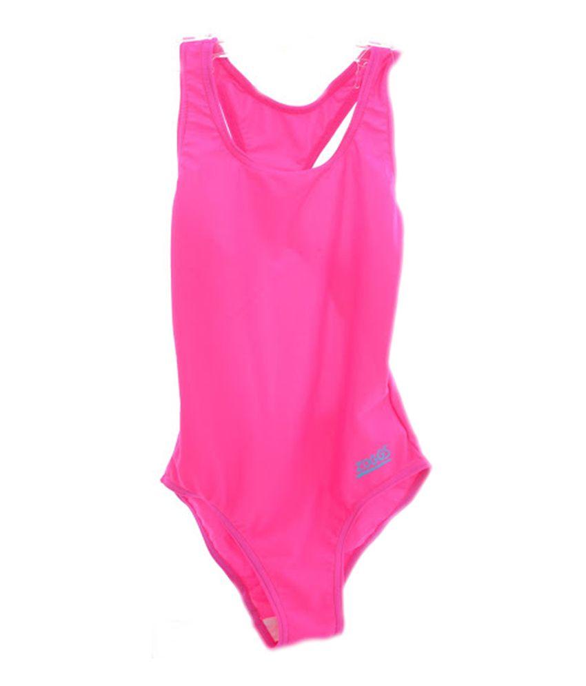 Zoggs Tots Bellambie Actionback Girls Swimwear Pink26 96400926/ Swimming Costume