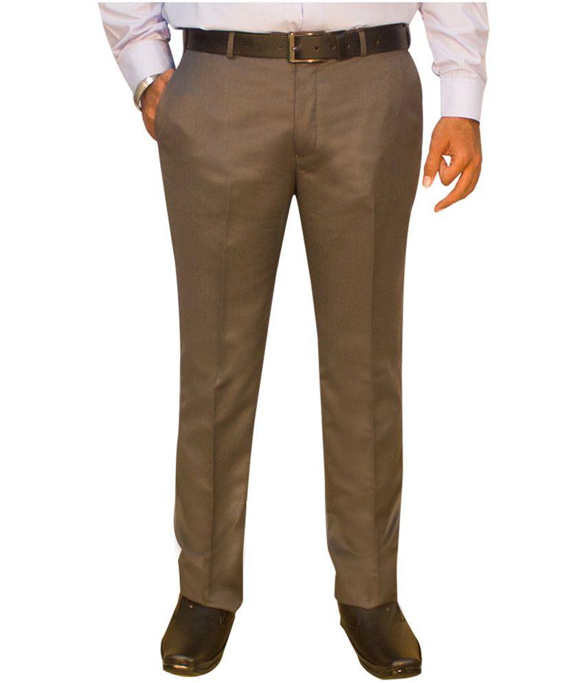 Kinger Light Grey Regular Fit Formal Trouser