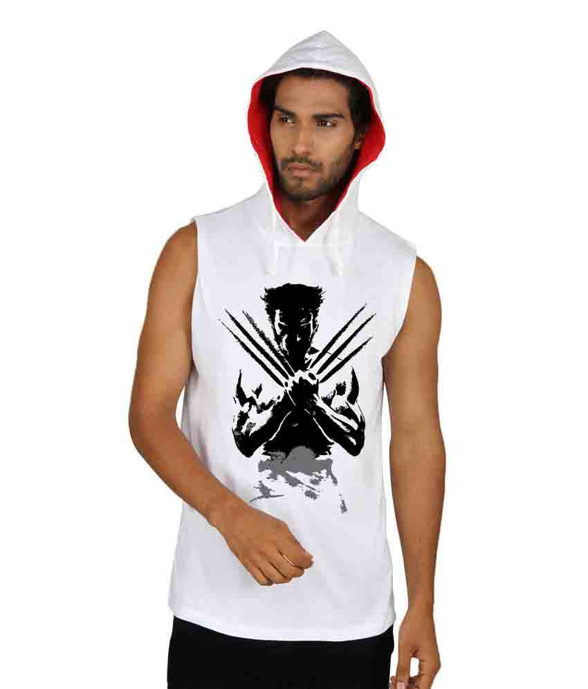 Sayitloud Multicolour Wolverine Printed Cotton Hooded T-shirt