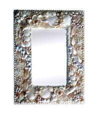 Avataara Hand Crafted Sea Shell Wooden Mirror