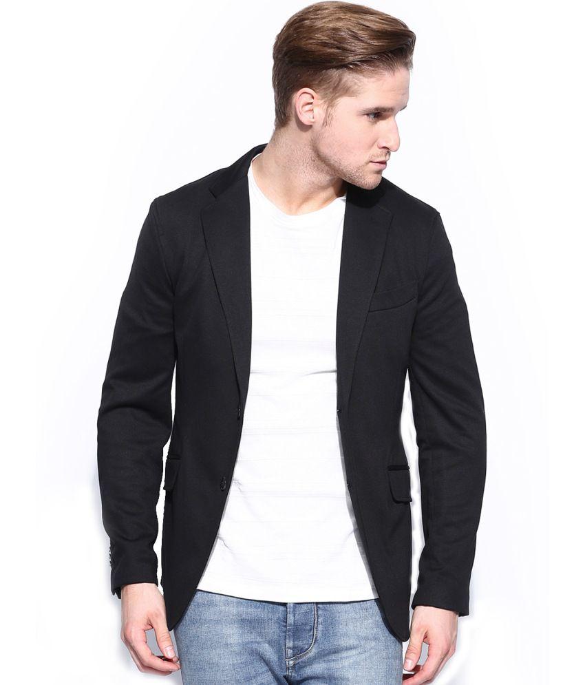 Protext Black Cotton Blazers