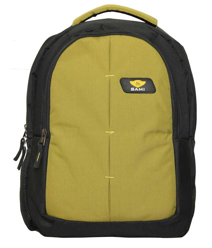 Sami Parrot Green Polyester Laptop Back Packs