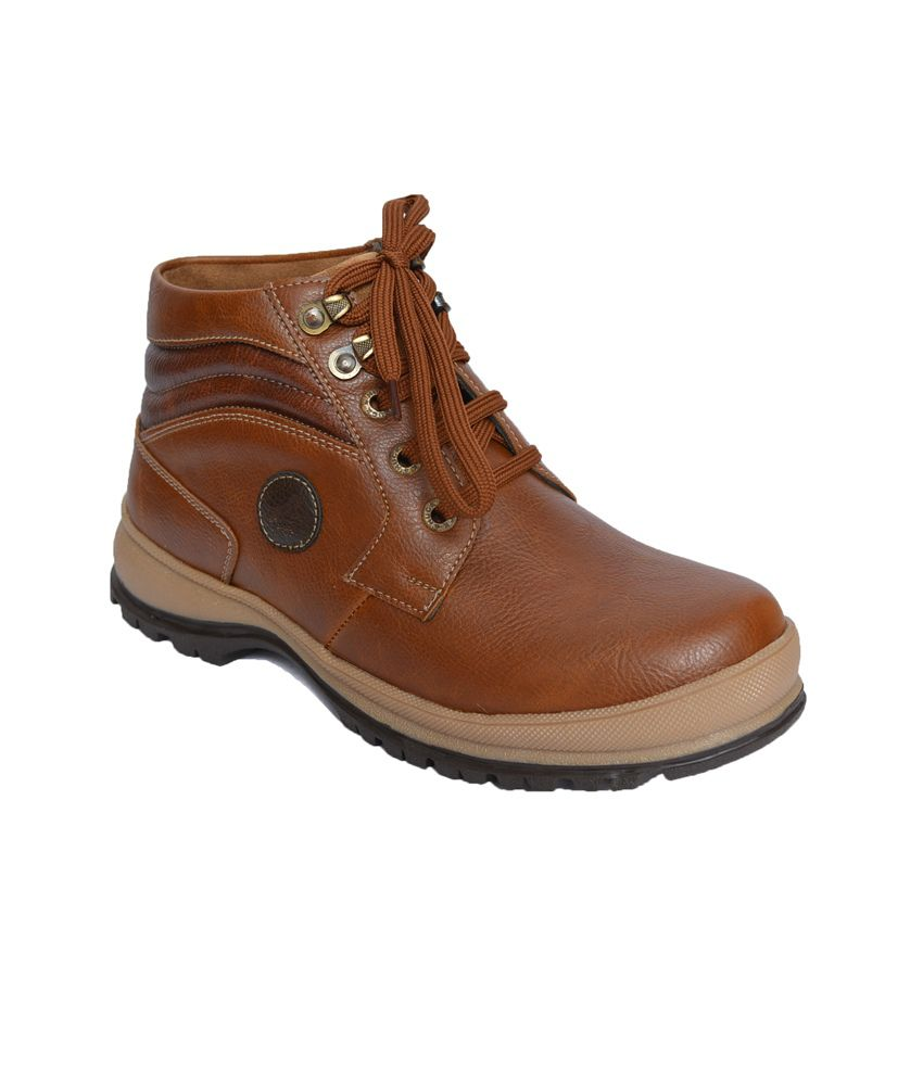 Tiger Hill Tan Leather Designer Boots