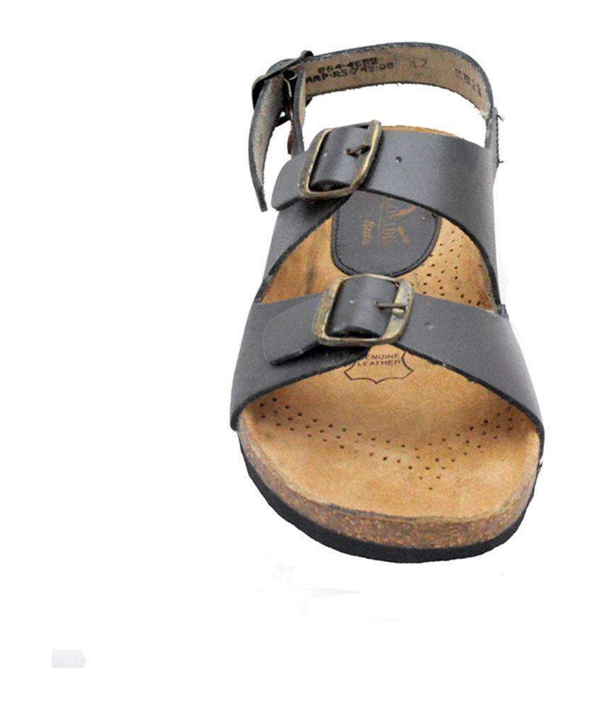 Bata Brown Leather Velcro Dailywear Mens Sandals Price In