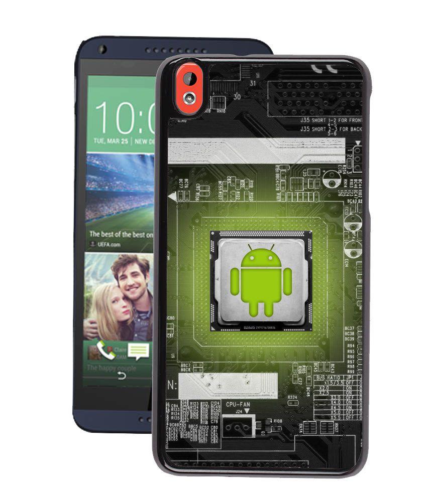 Fuson Premium Android Logo Designer Back Cover For Htc