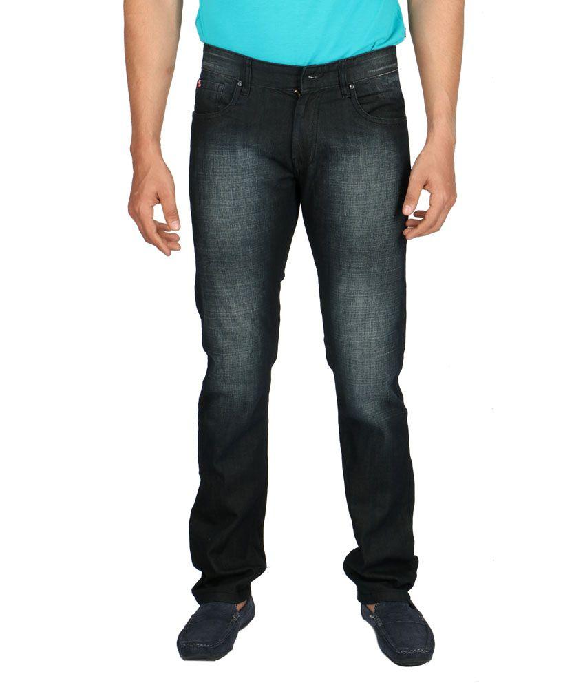 Streetguys Cotton Black Slim fit Jeans