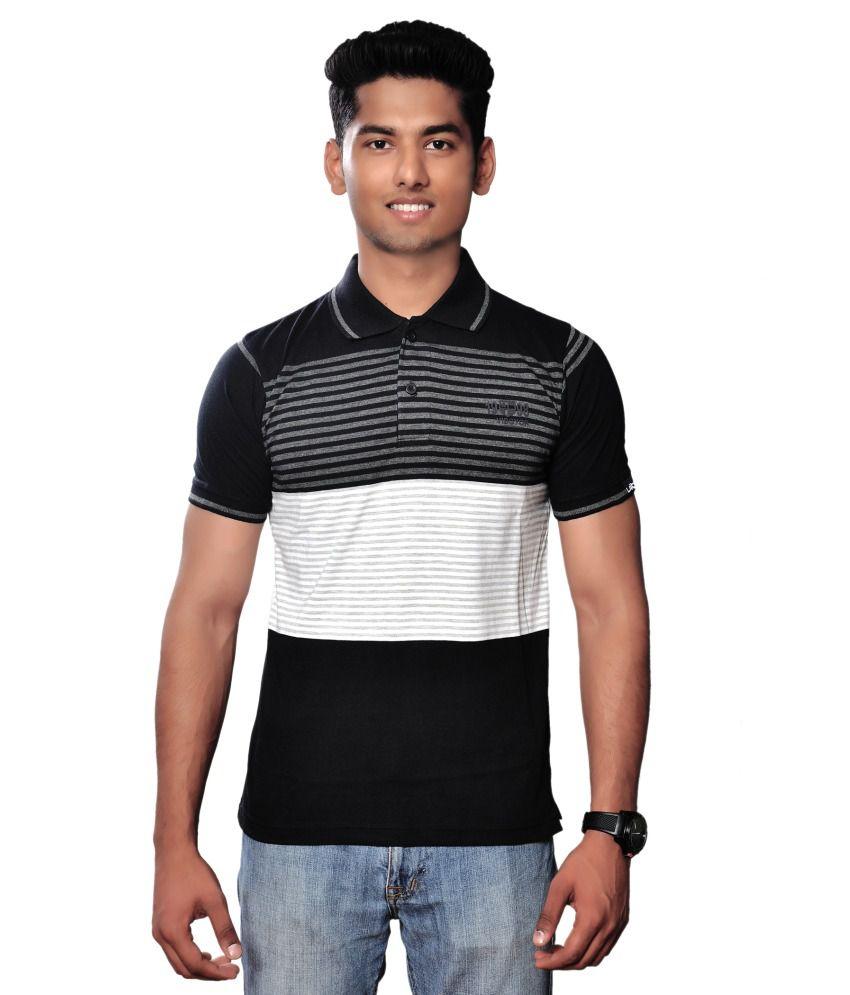 Vibgyor Striped Men's Polo T-Shirt - Buy Vibgyor Striped ...