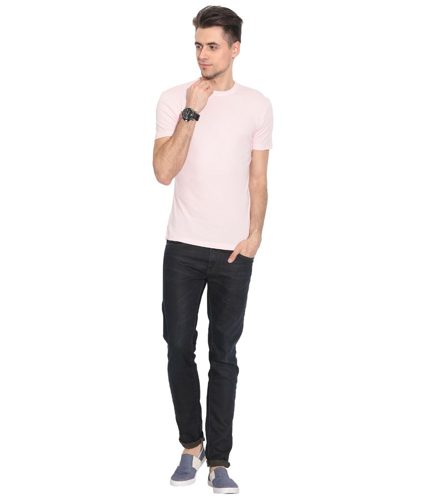 Alcot Pink Cotton Short Sleeves T-shirt With Graphic Print At Front