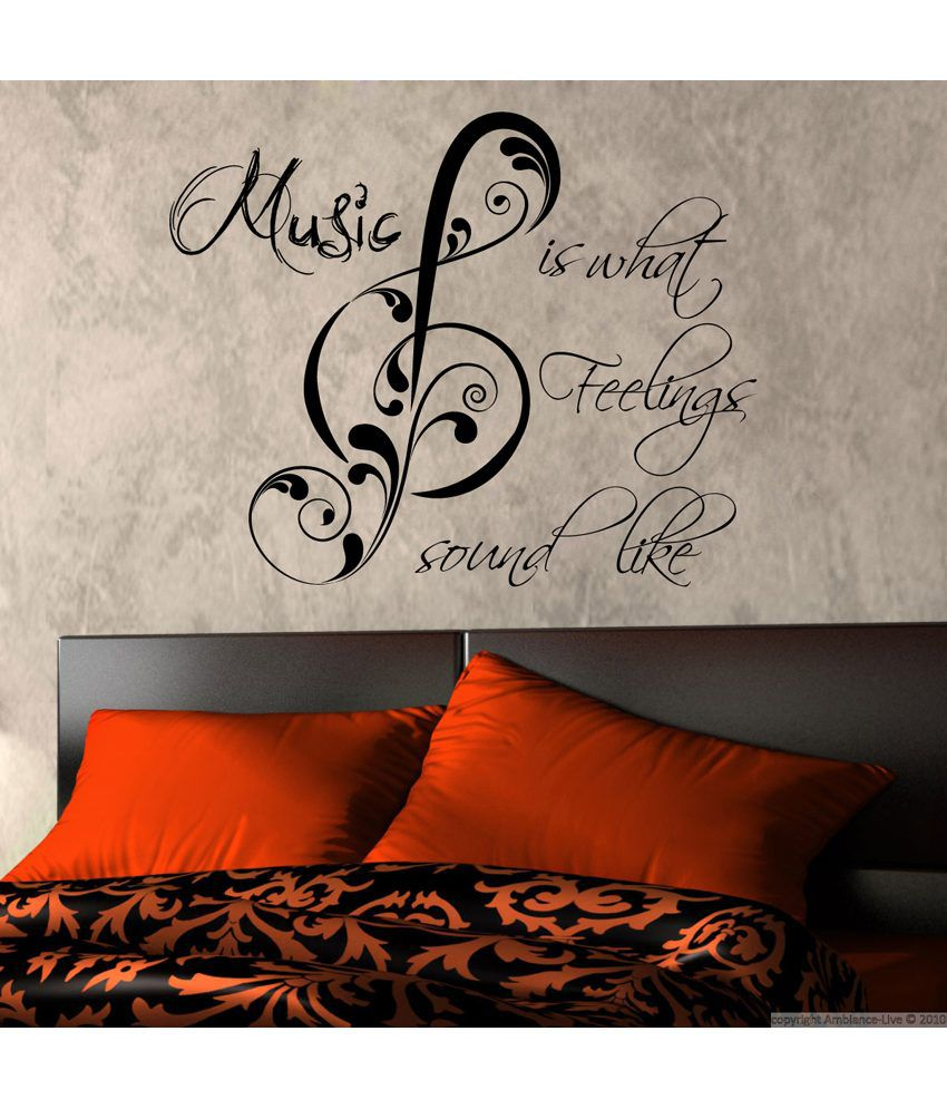 Decor Kafe Decal Style Feel The Music Wall Sticker Buy
