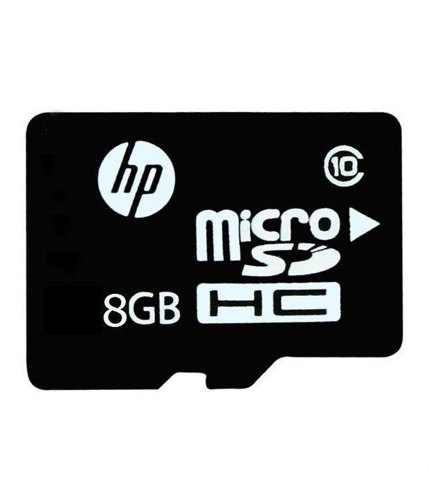 HP 8GB MicroSDHC Class 10 (10MB/s) Memory Card