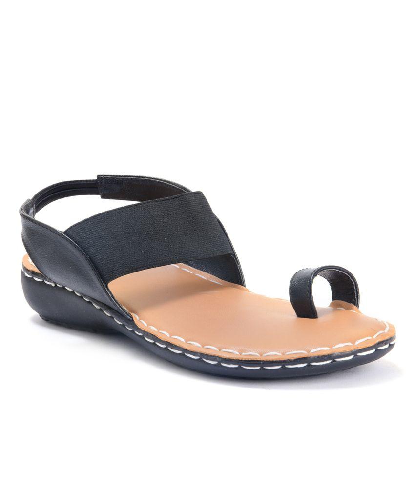 Invixo E-lyte women Black sandal
