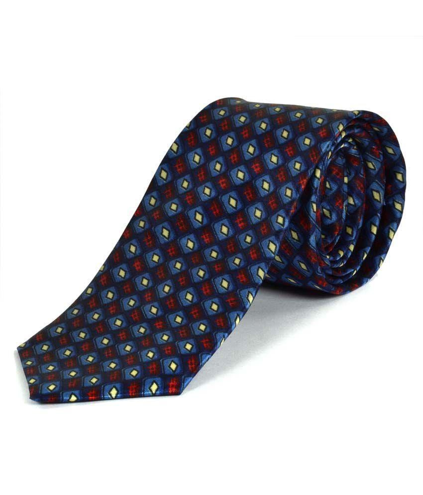 Paranoid Blue Designer Print Men 39 S Tie Buy Online At Low