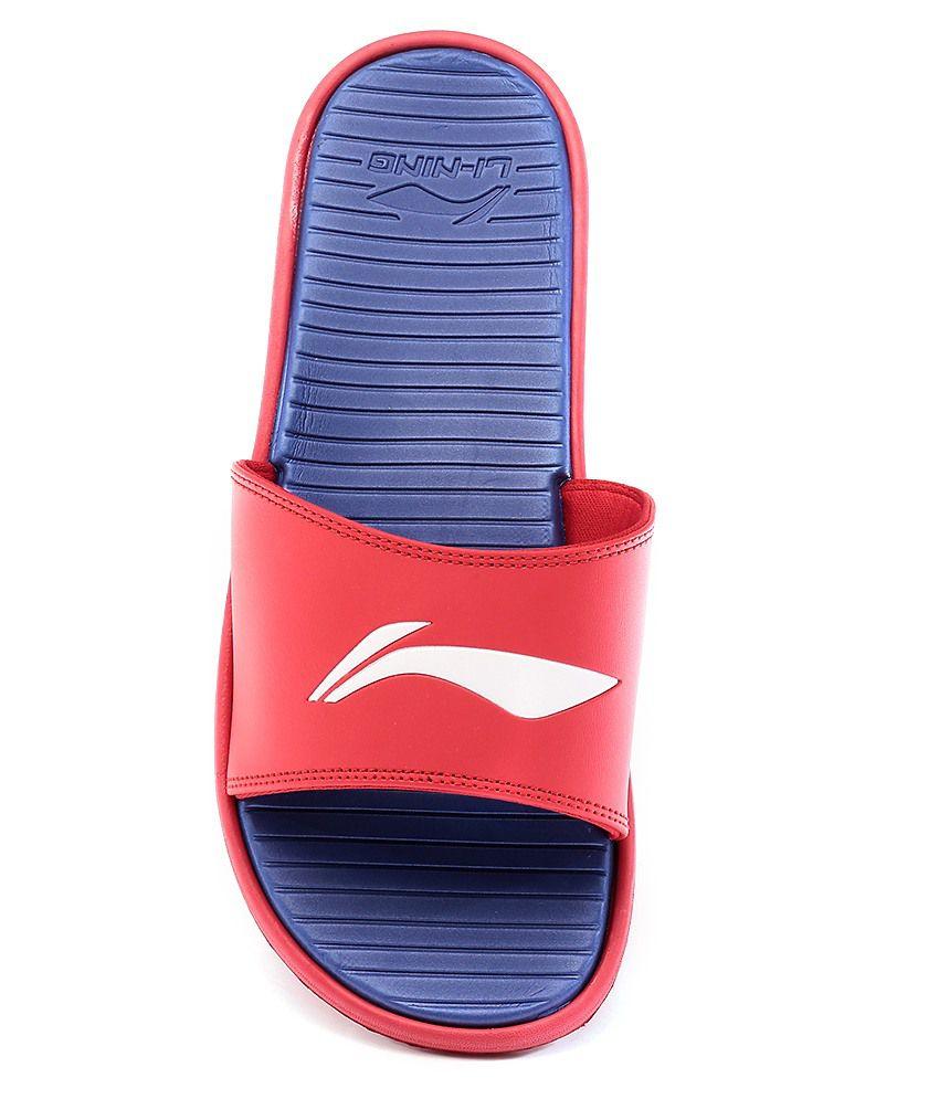 59543566400b4 Li-Ning Goa Red Blue Slippers Price in India- Buy Li-Ning Goa Red ...