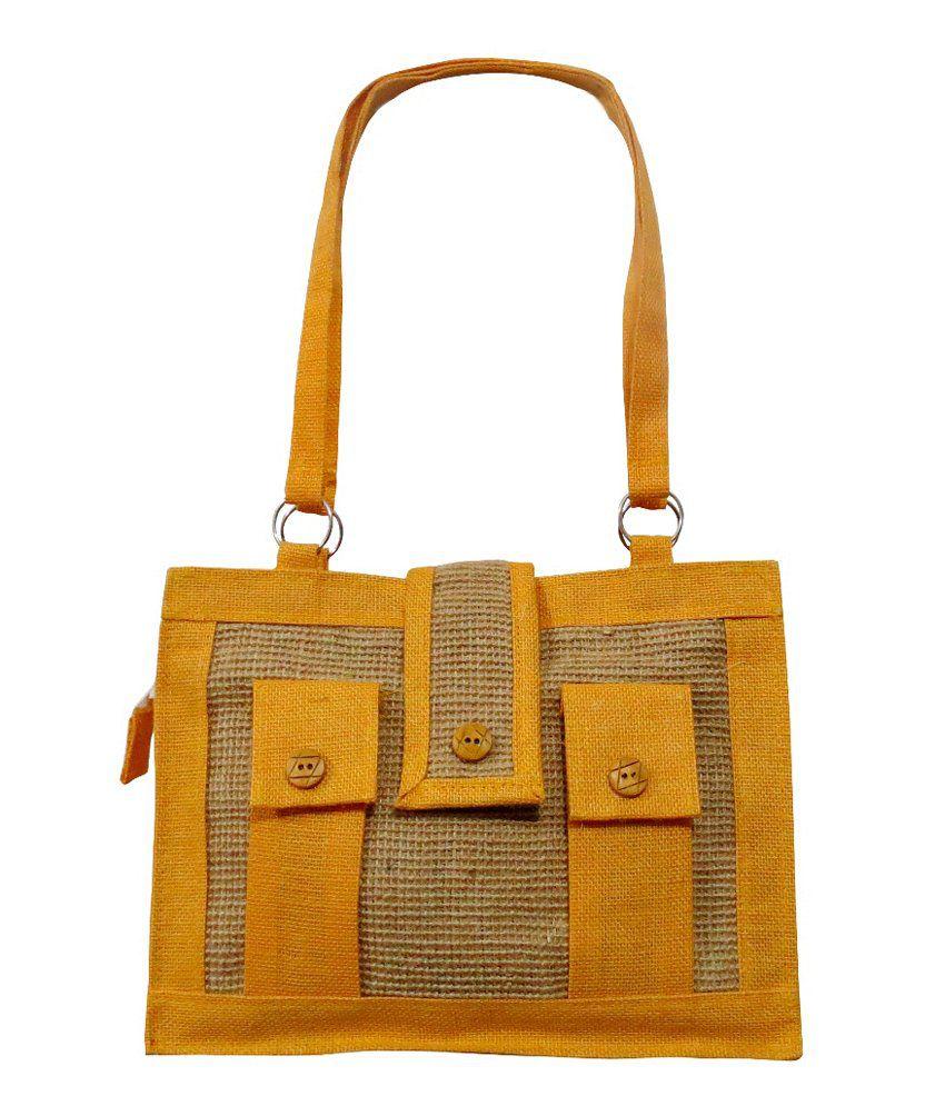 PINDIA BAG600117 Yellow Shoulder Bags