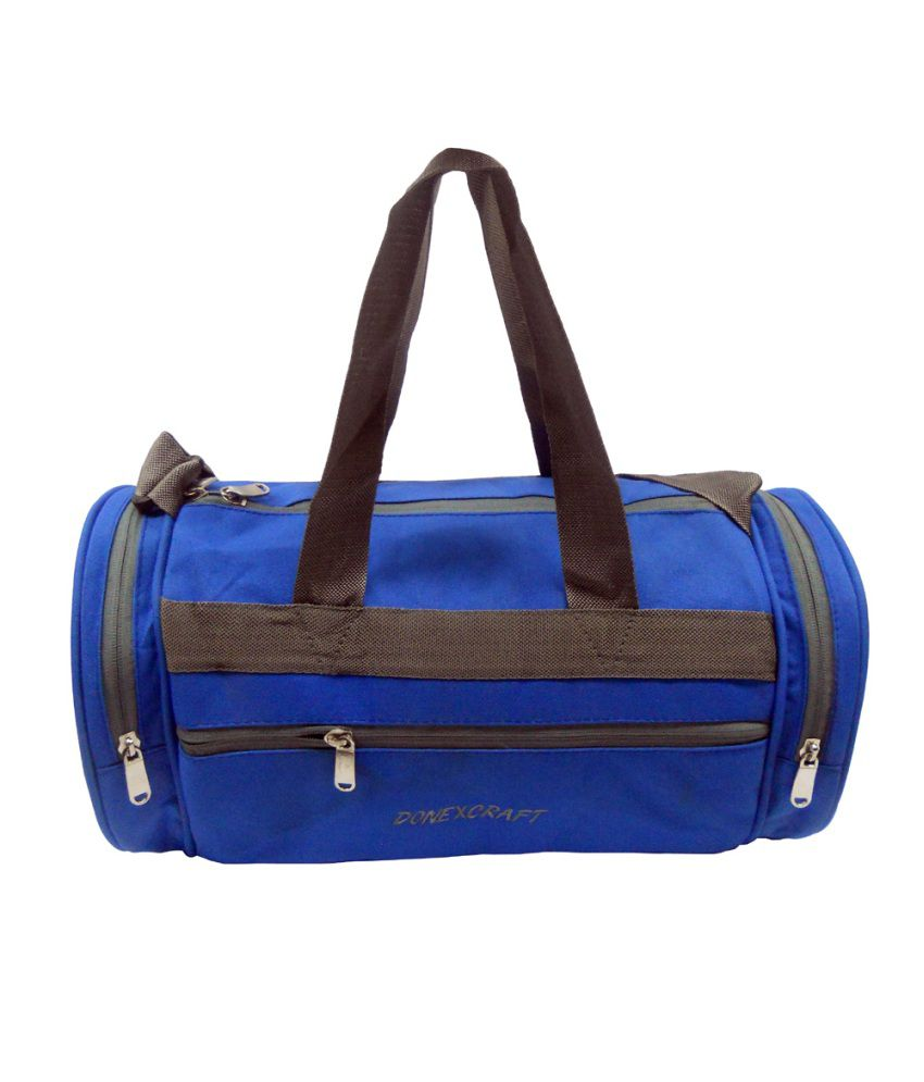 Donex Blue Medium Gym Bag