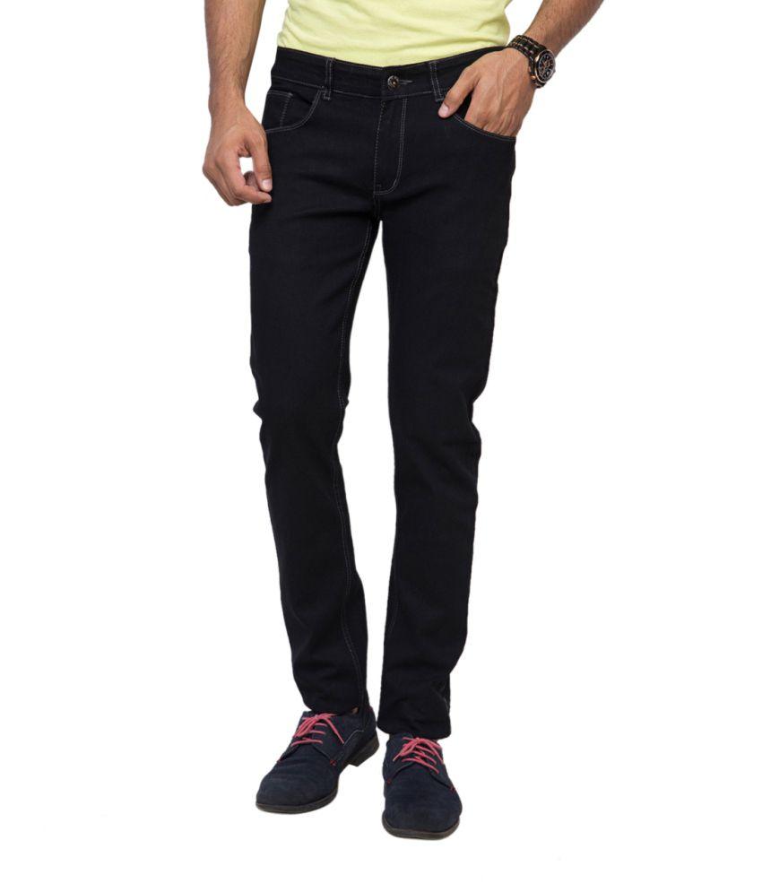 Yepme Black Cotton Jeans