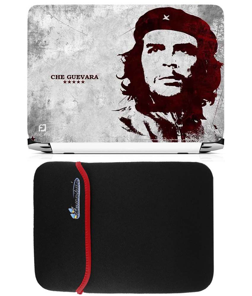 Anwesha's Reversible Laptop Sleeve With Laptop Skin 15.6 Inch - Che Guevara Five Star