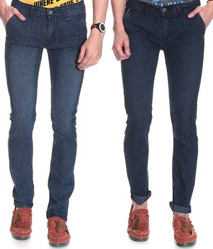 D'coral Blue Skinny Jeans Set Of 2