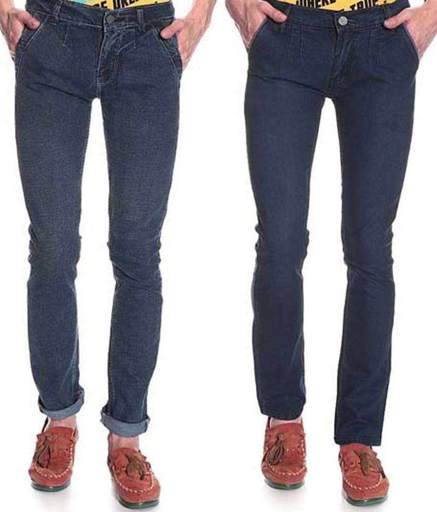 D'coral Blue Skinny Jeans Set Of 2