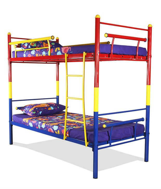 Best of FurnitureKraft Bunk Bed in Multi Color Steel In 2018 - Cool bunk bed furniture Trending