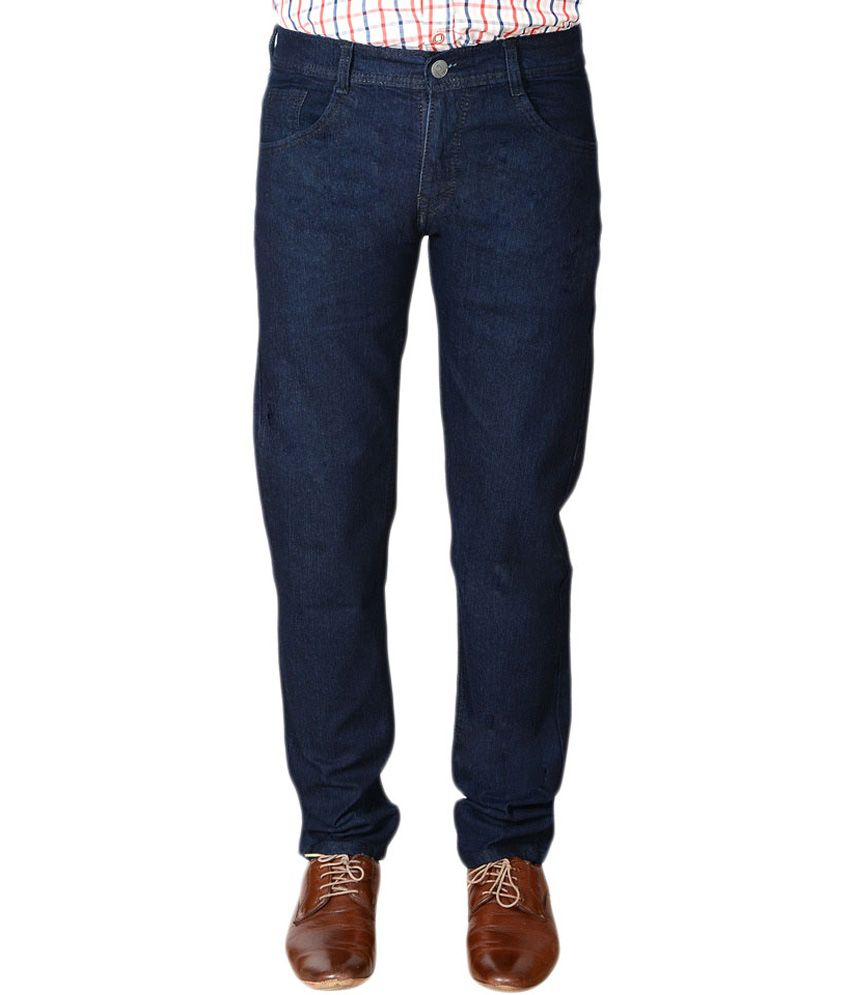 Jagan Blue Cotton Blend Regular Radiant Jeans