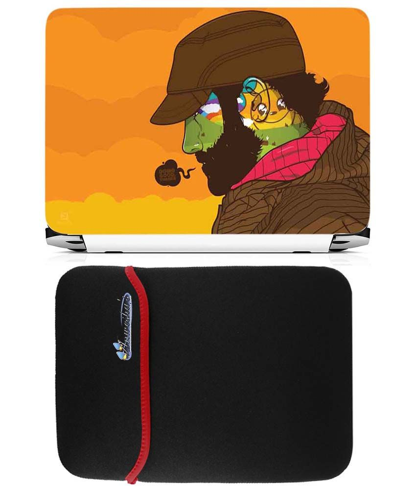 Anwesha's Reversible Laptop Sleeve With Laptop Skin 15.6 Inch - Doing Good Things