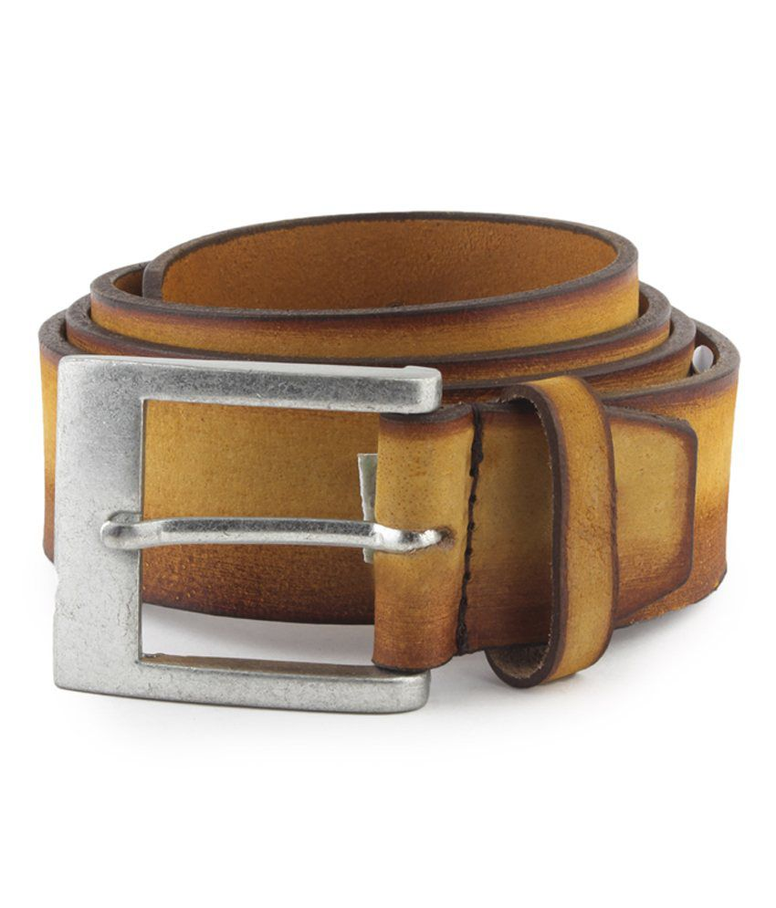 Aristarchus Tan Leather Casual Belt For Men