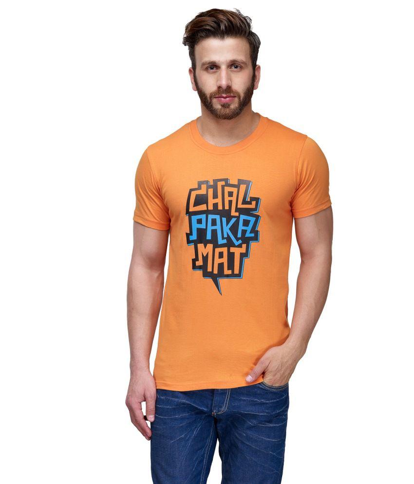 CnM Orange Cotton T Shirt