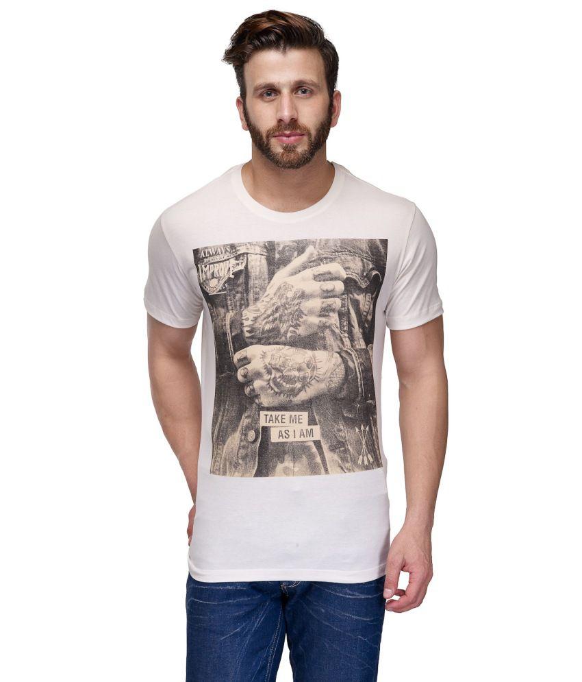 CnM White Cotton T Shirt
