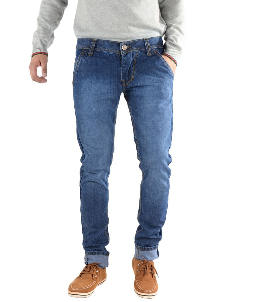 K' Live Stylish Light Blue Cotton Basic Denim Jeans