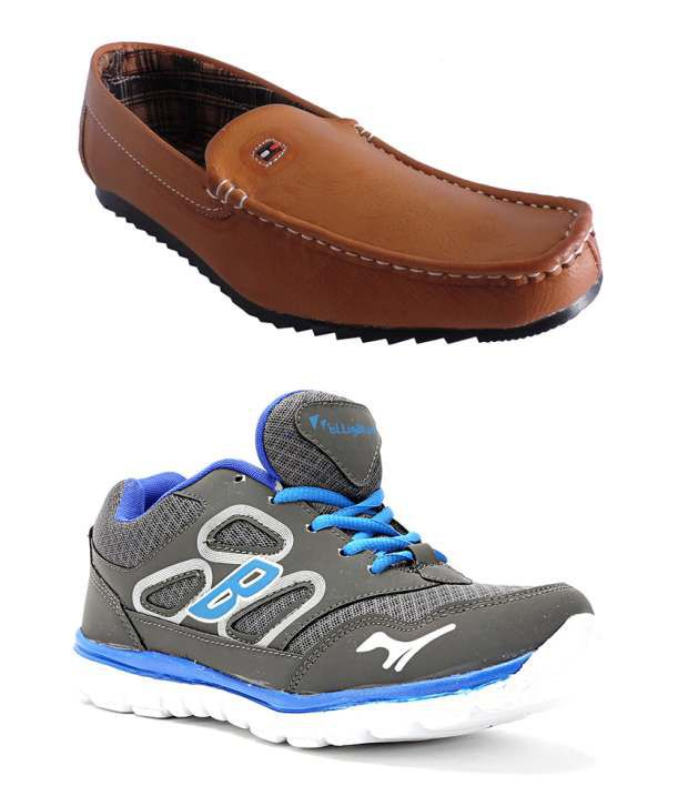Elligator Synthetic Leather Sport Shoes