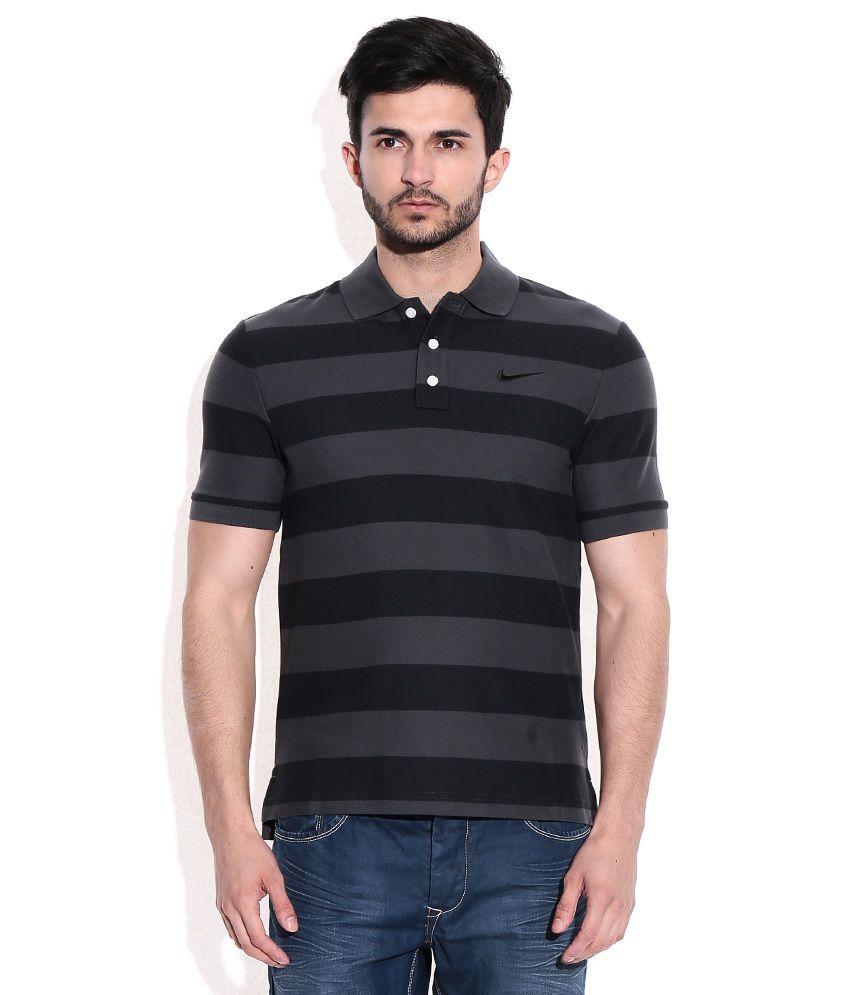 Nike black polo t shirt buy nike black polo t shirt for Nike t shirt price