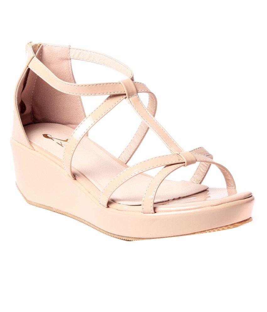 Klaur Melbourne Majestic Beige Heeled Sandals