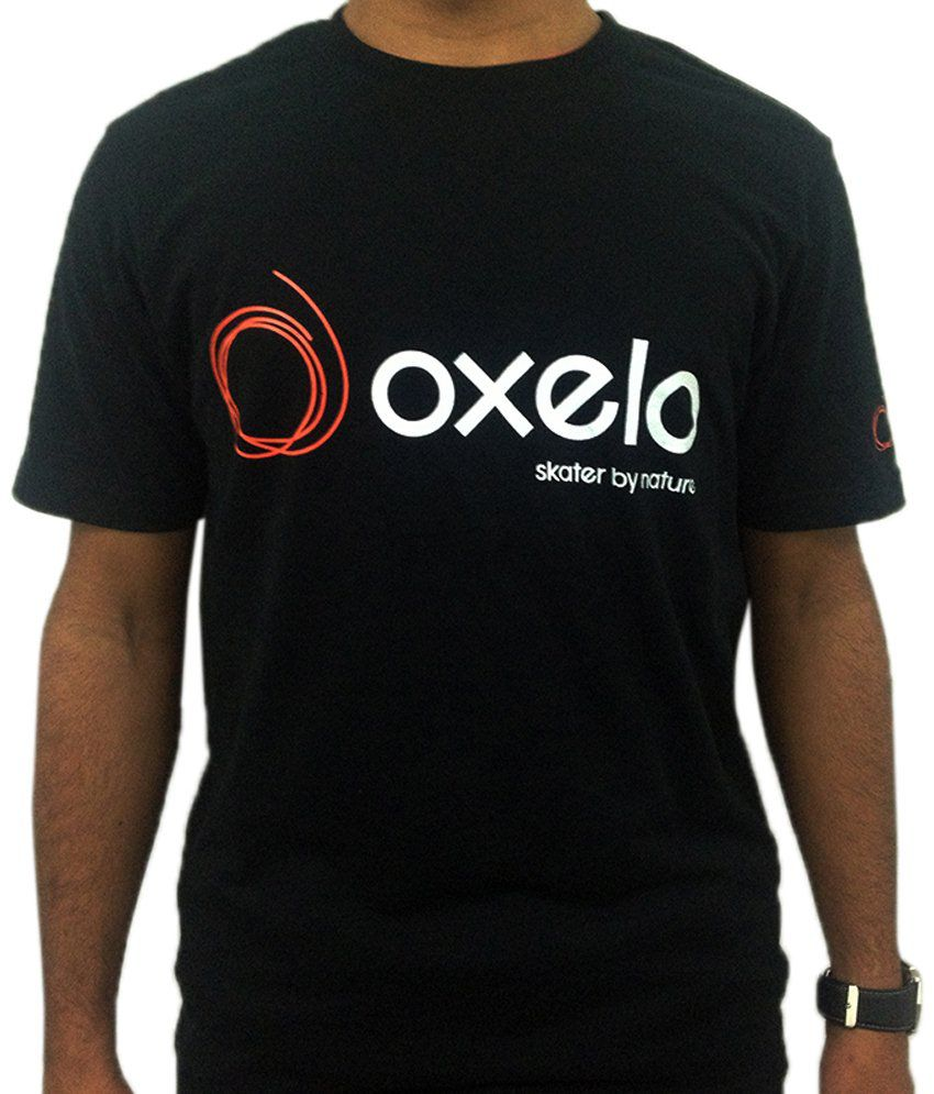 Oxelo Black & White Skating T Shirt