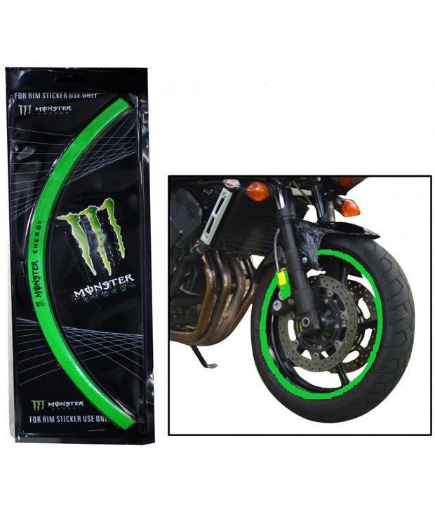 Spedy Green Reflecting Bike Rim Sticker For Hero Passion Pro Buy