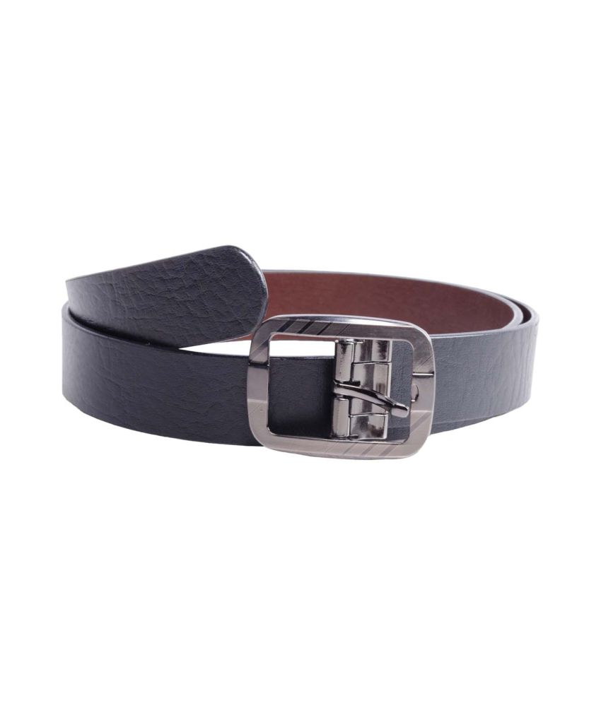 Bhavya Black Men Leather Belt