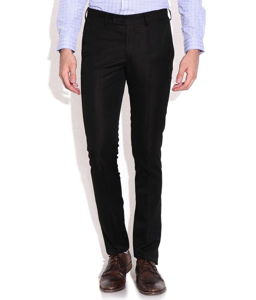 Excalibur Brown Super Skinny Fit Formal Trousers