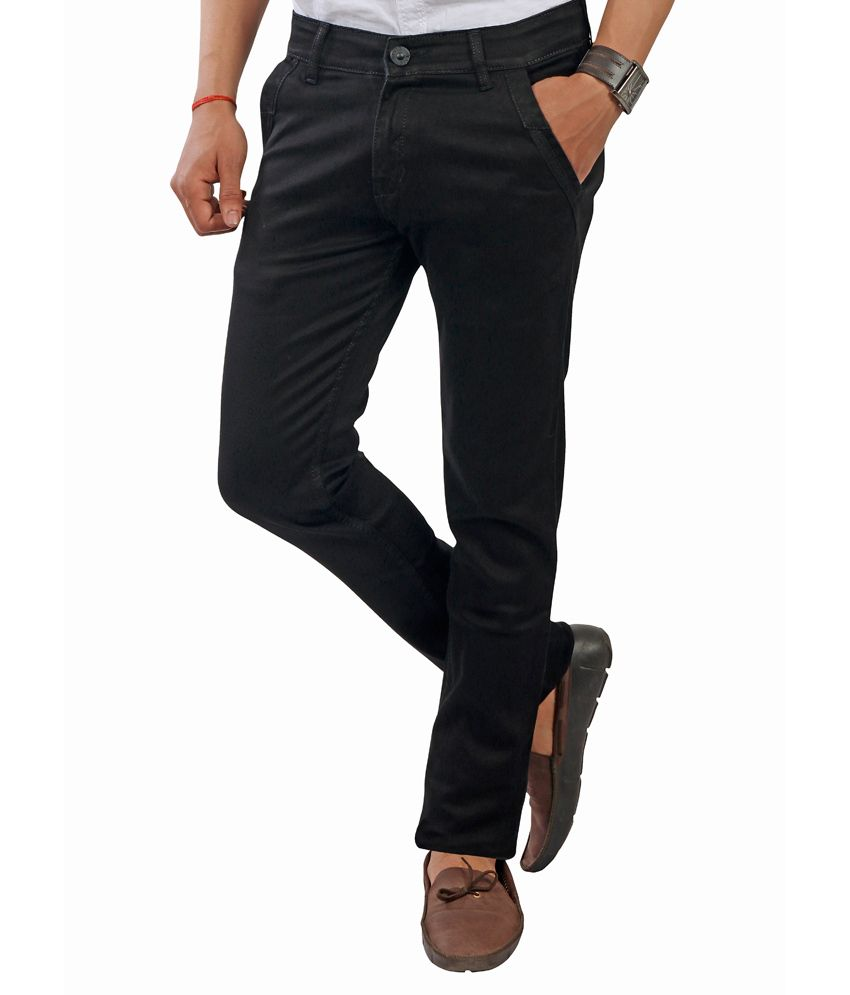 Devis Black Cotton Slim Fit Jeans