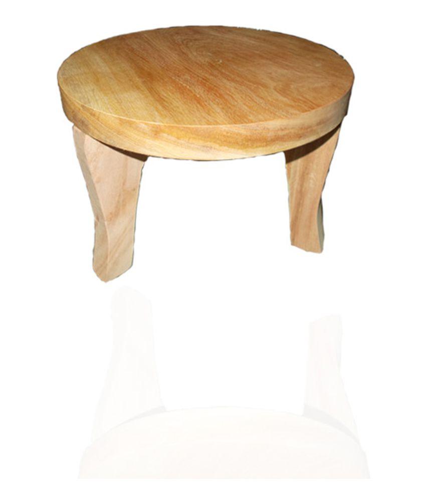 Shree Homedecor Wooden Curved Limdo Leg Polpat