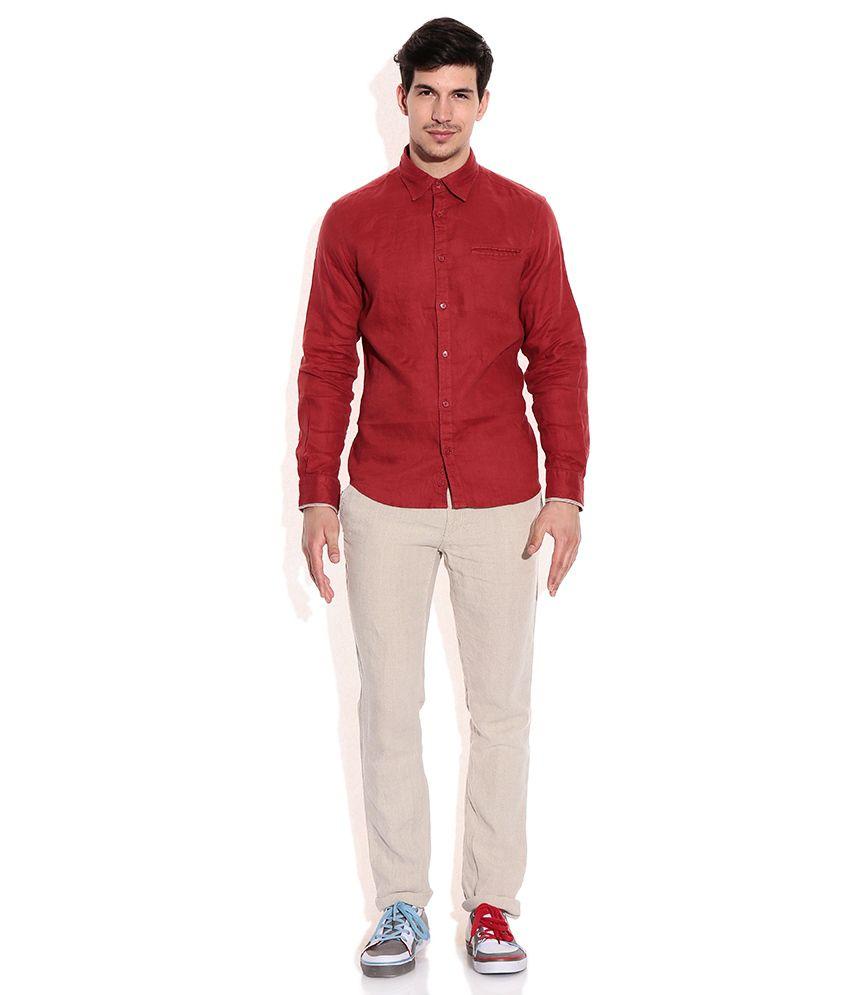 9e99b39c774 Celio Beige Linen Trouser - Buy Celio Beige Linen Trouser Online at ...