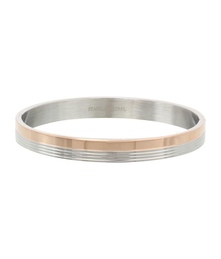 Svvelte Gold & Silver Bracelet in Stainless Steel