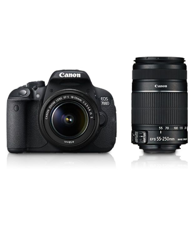 Canon EOS 700D 18 MP DSLR Camera with 18-55 mm + 55-250 mm Lens