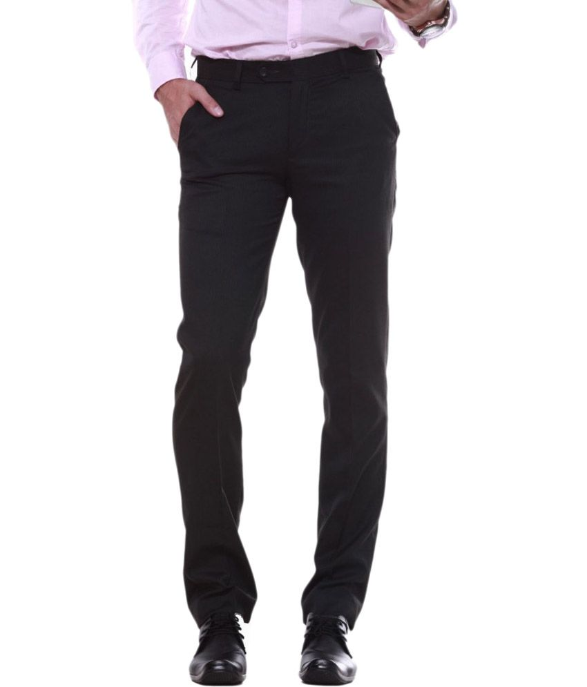 Sangam Apparels Green Slim Fit Poly Viscose Formal Trouser