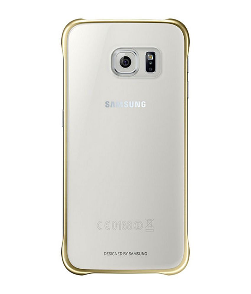 low priced e9277 bcd78 Samsung Protective Back Cover for Samsung Galaxy S6 - Gold